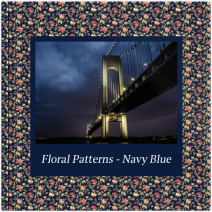 Fotoalbum - Floral Patterns - Navy Blue